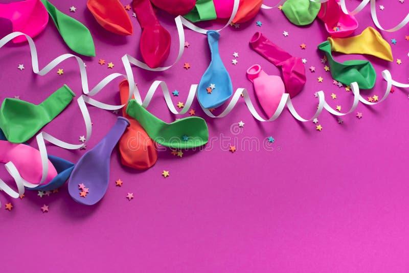 欢乐庆祝和装饰的背景装饰构成材料 库存照片