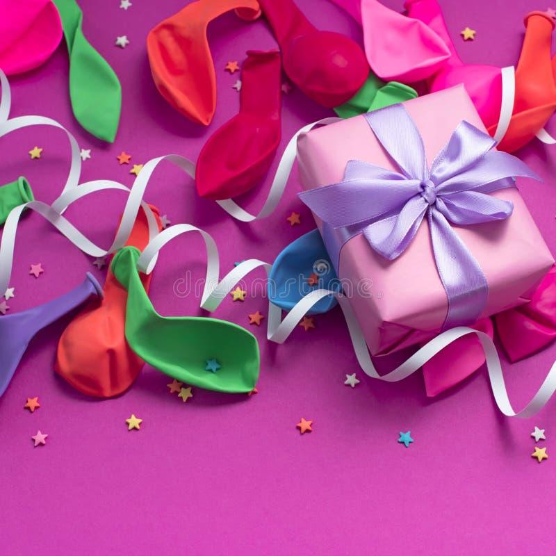 欢乐庆祝和装饰的背景装饰构成材料 库存图片