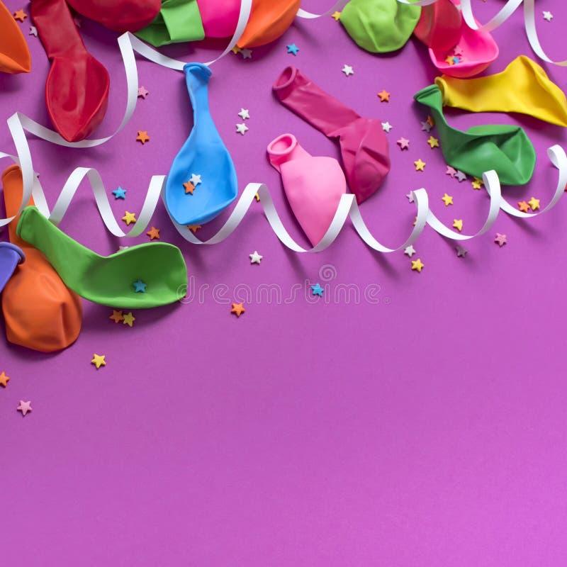 欢乐庆祝和装饰的背景装饰构成材料 图库摄影
