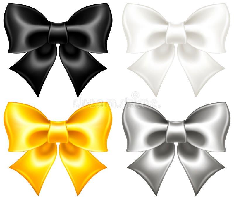 欢乐弓黑色和金子 向量例证