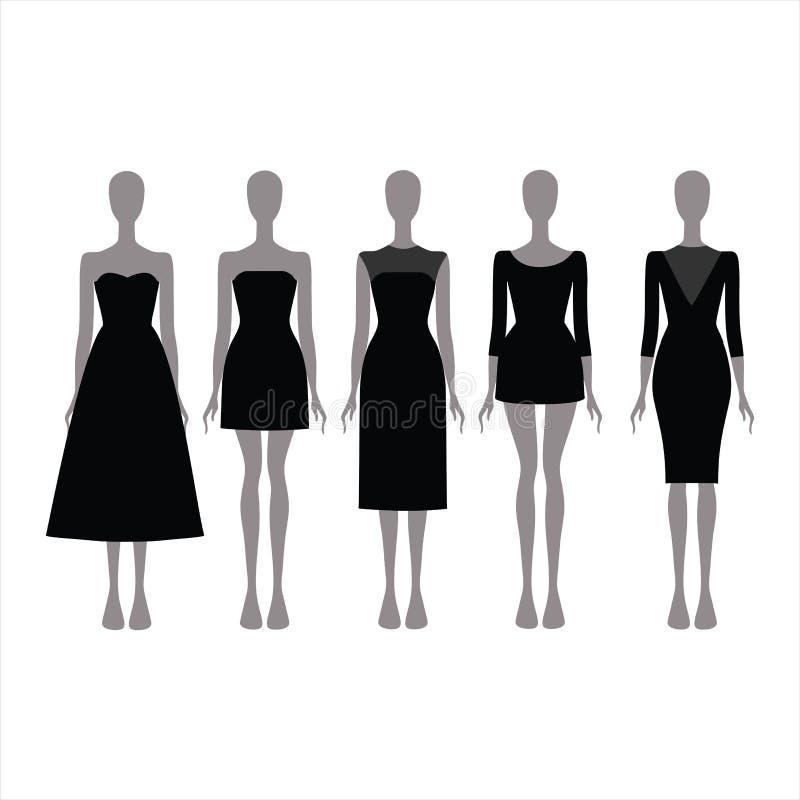 黑欢乐服装 晚礼服 免版税图库摄影