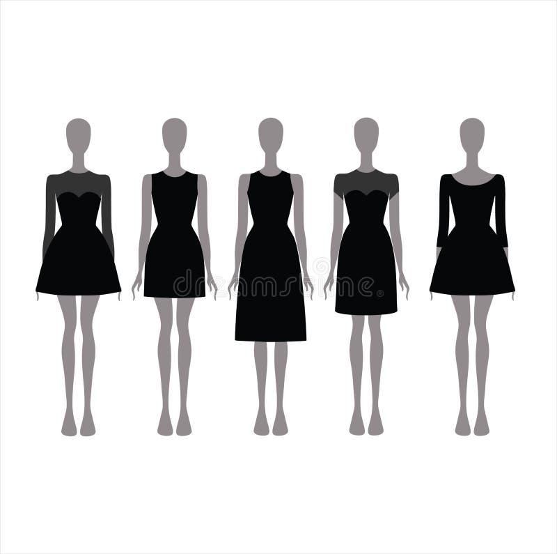 黑欢乐服装 晚礼服 库存照片