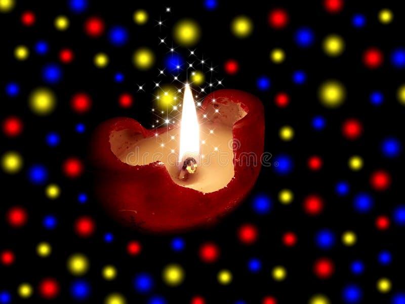 欢乐灼烧的蜡烛 向量例证