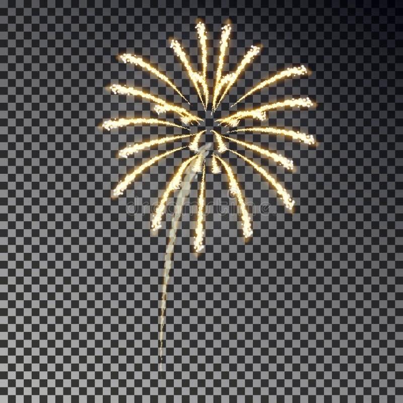 欢乐烟花 被隔绝的圣诞节爆竹光线影响对黑暗的背景 烟花decorati 皇族释放例证