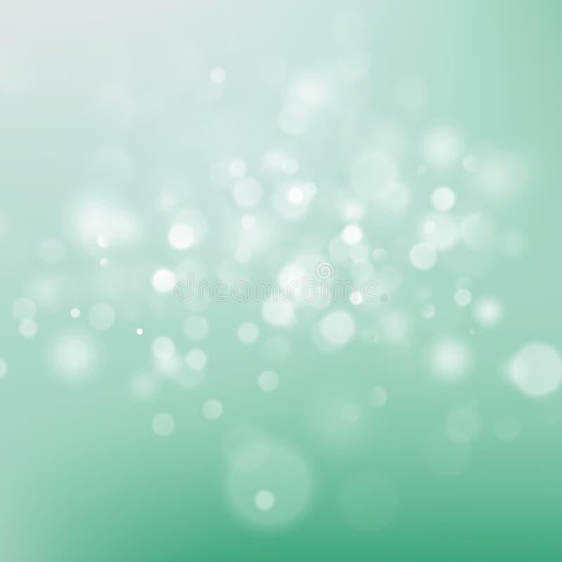 欢乐绿色和白色光亮背景 10 eps 向量例证