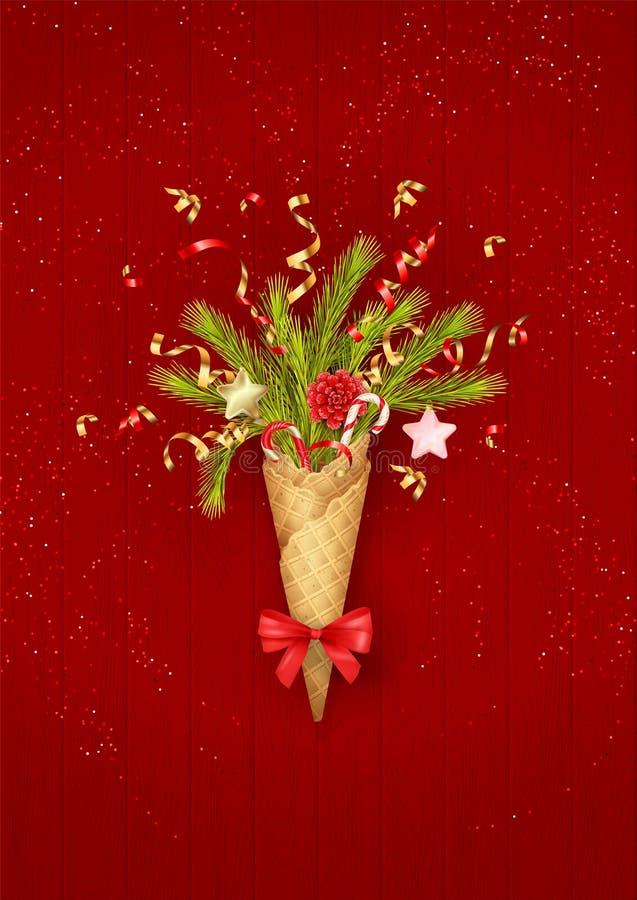 欢乐背景的圣诞节 免版税库存照片