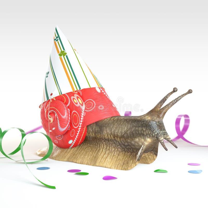 欢乐蜗牛 免版税库存图片