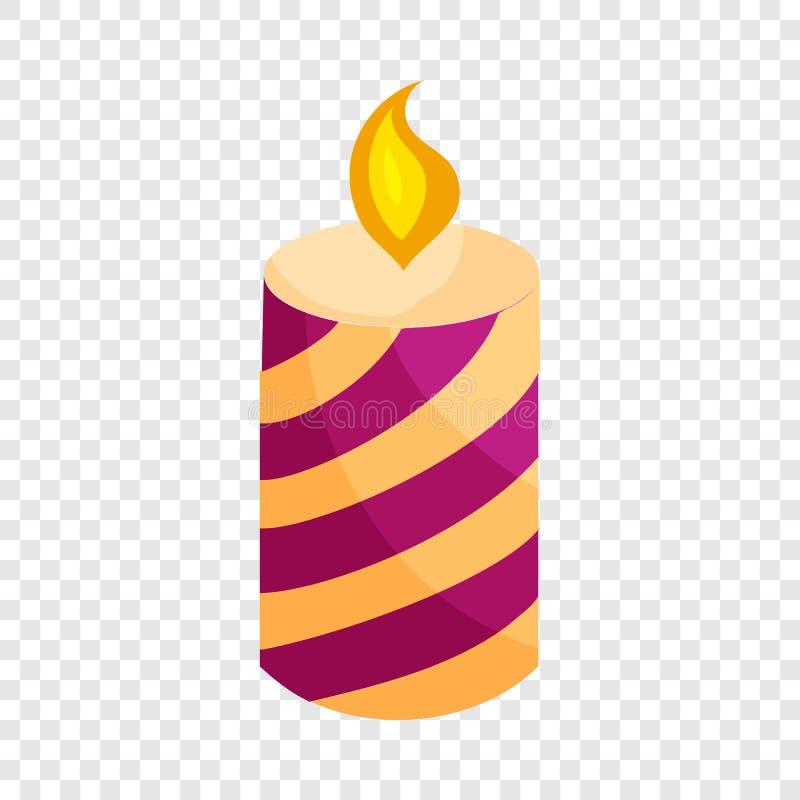 欢乐蜡烛象,动画片样式 向量例证