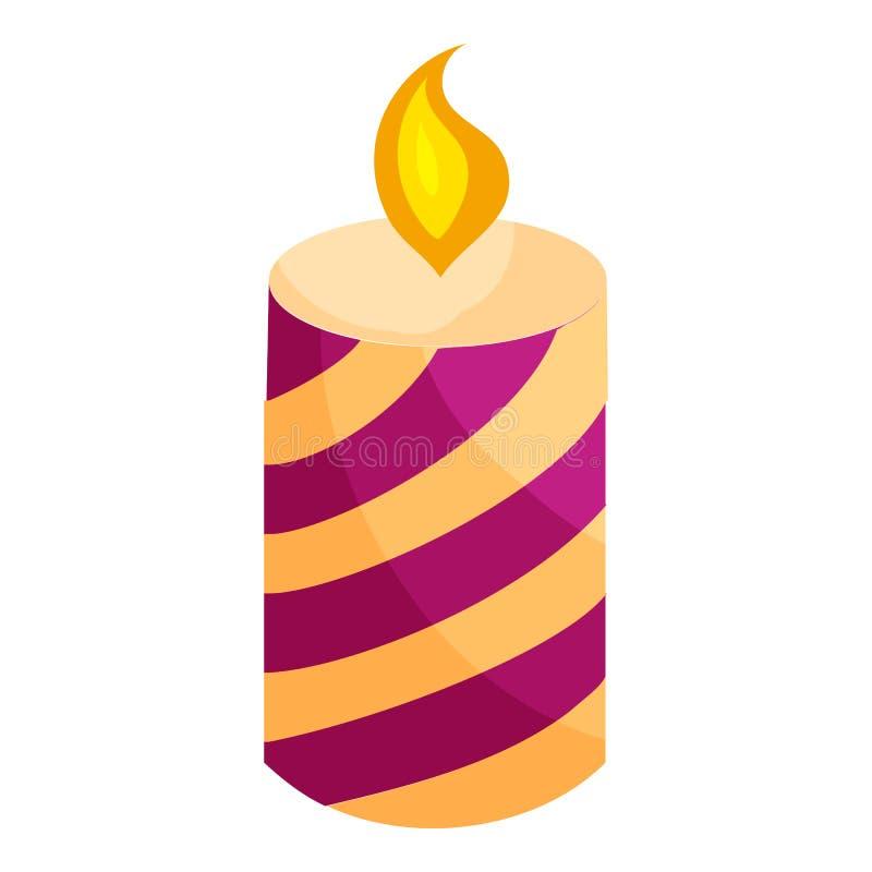 欢乐蜡烛象,动画片样式 库存例证