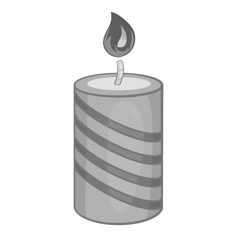 欢乐蜡烛象,黑单色样式 皇族释放例证