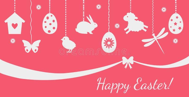 欢乐贺卡或包装的复活节快乐 ?? 向量例证