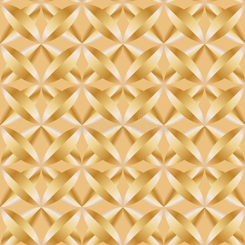欢乐金黄黄色金属样式和背景 库存例证