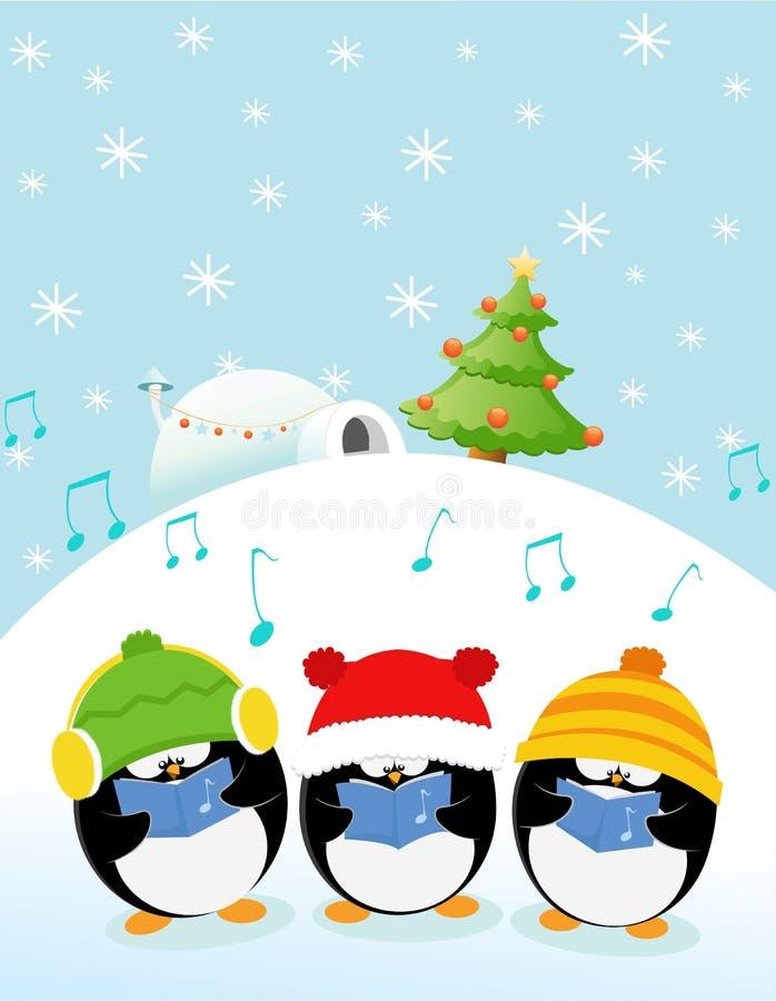 欢唱企鹅 向量例证