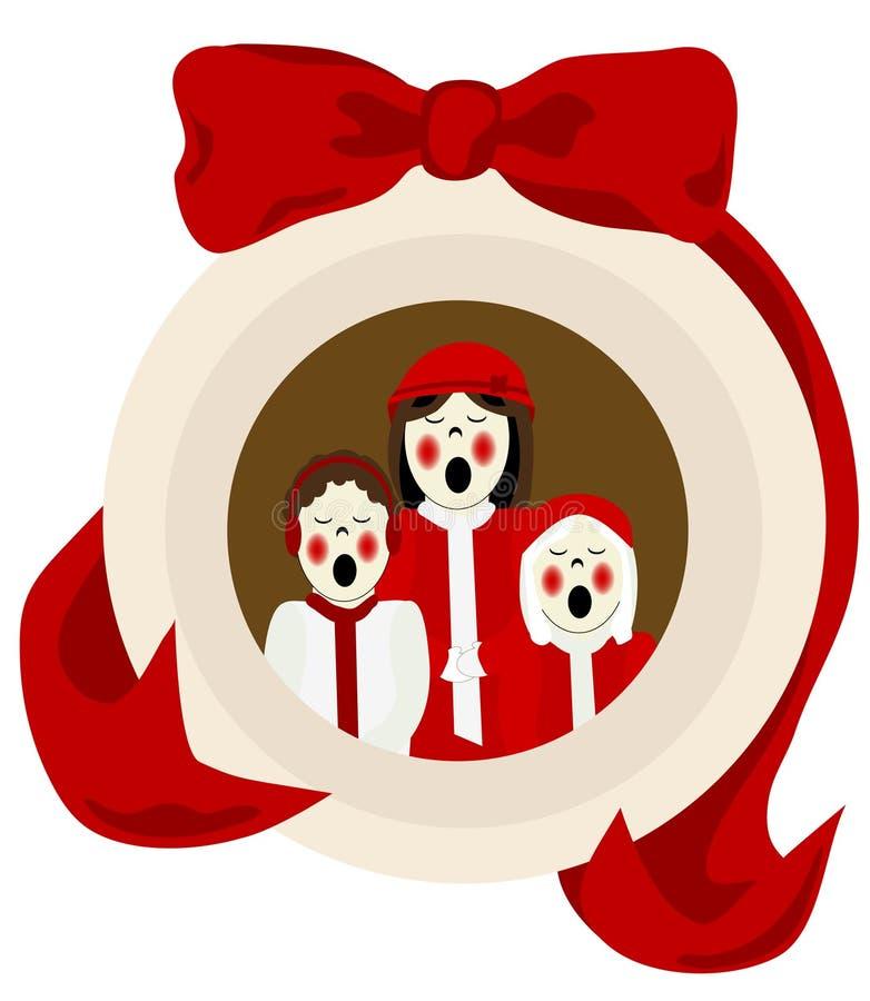 欢唱圣诞节装饰品 向量例证
