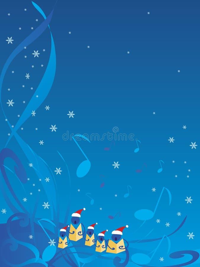 欢唱圣诞节 皇族释放例证