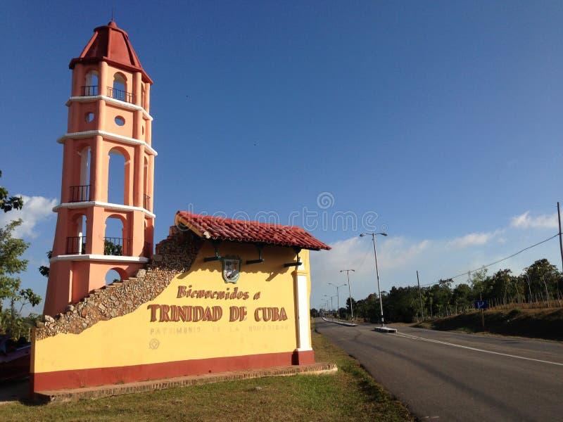 欢迎光临特立尼达de古巴 图库摄影