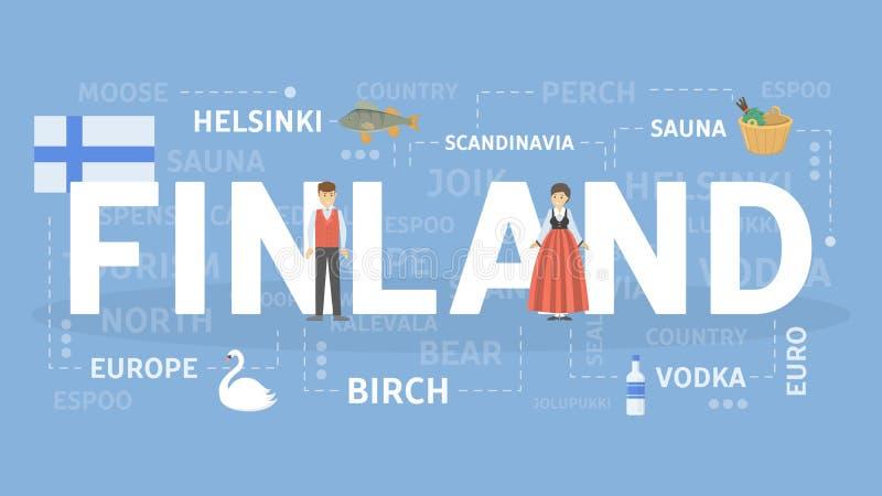 欢迎光临芬兰 库存例证