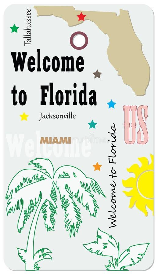 欢迎光临佛罗里达-标记 向量例证