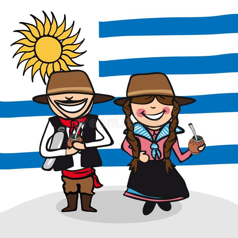 欢迎到乌拉圭人 向量例证