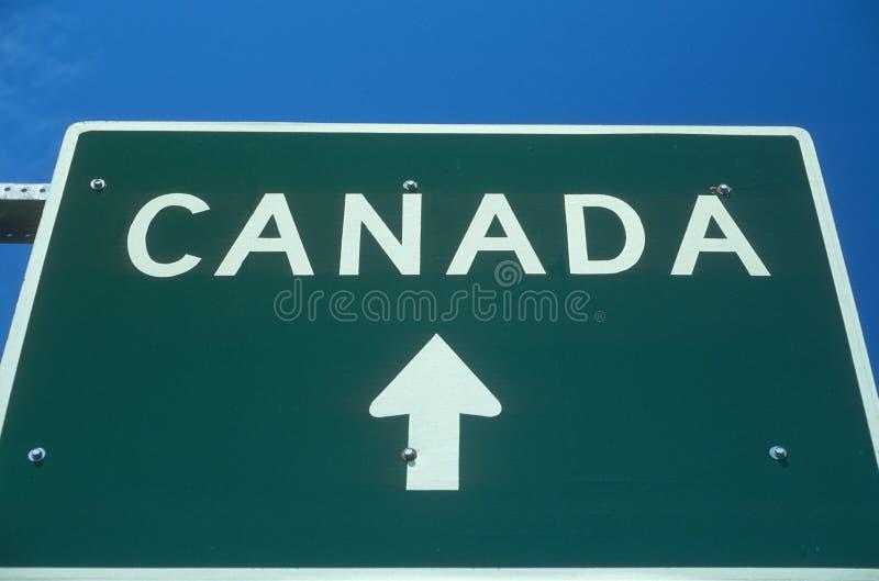 欢迎到加拿大标志 免版税库存照片