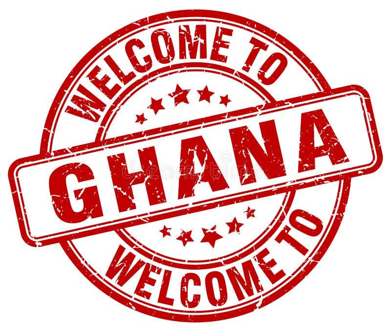 欢迎到加纳邮票 向量例证