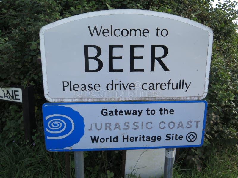 欢迎到啤酒 免版税库存图片