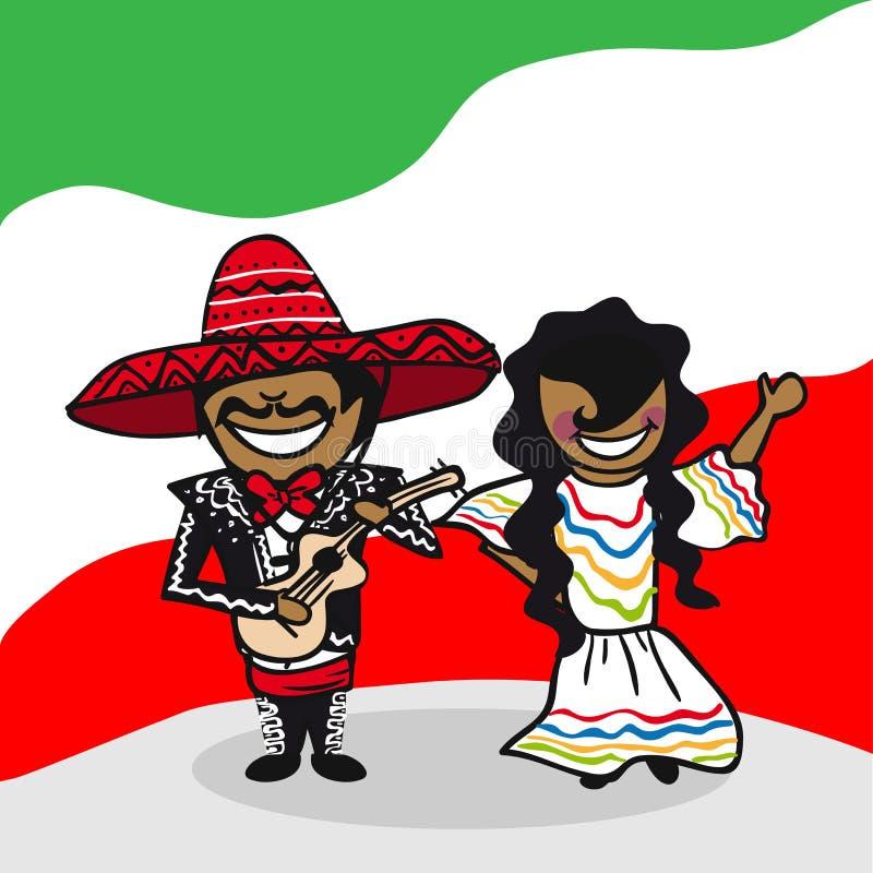 欢迎到墨西哥人 库存例证