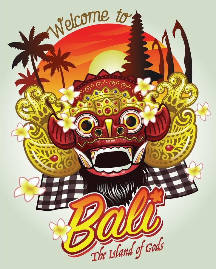 欢迎到巴厘岛设计 皇族释放例证