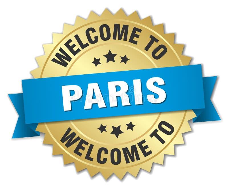 欢迎到巴黎徽章 皇族释放例证