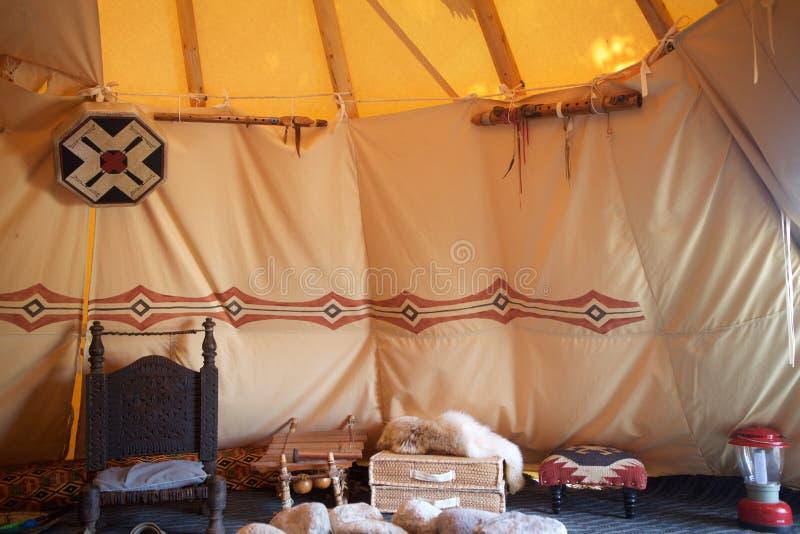 欢迎到帐篷 库存图片