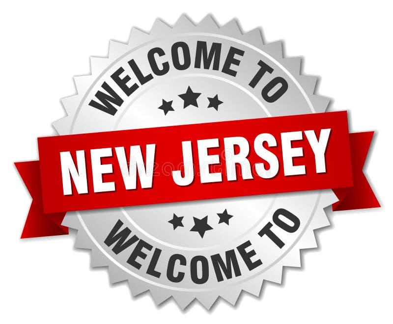 欢迎到新泽西徽章 库存例证