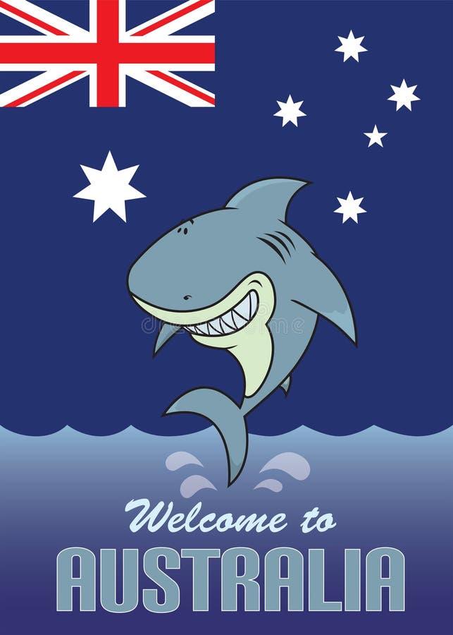 欢迎到澳大利亚卡片例证 皇族释放例证