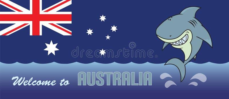 欢迎到澳大利亚卡片例证 库存例证