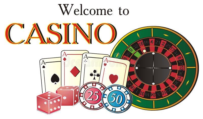 欢迎到赌博娱乐场 皇族释放例证