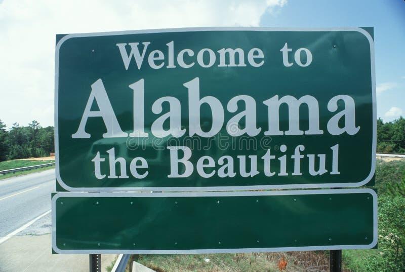 欢迎到阿拉巴马符号 免版税库存图片
