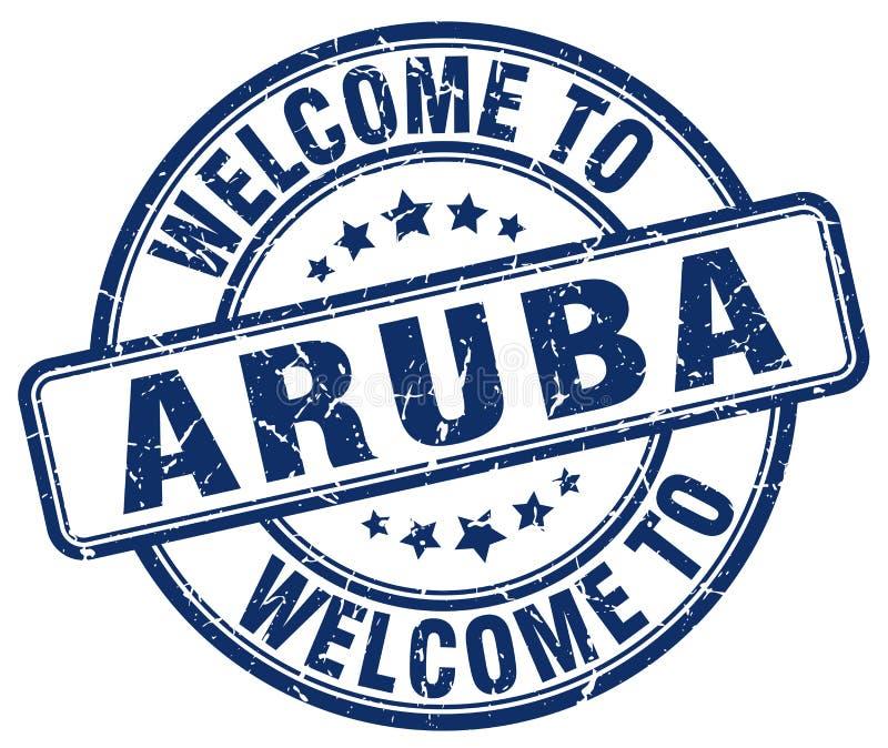 欢迎到阿鲁巴邮票 皇族释放例证