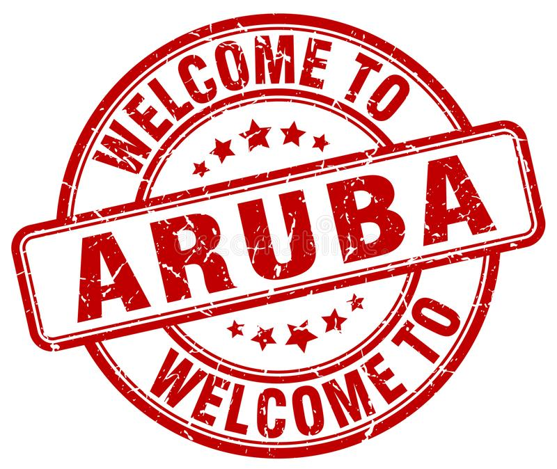 欢迎到阿鲁巴邮票 库存例证