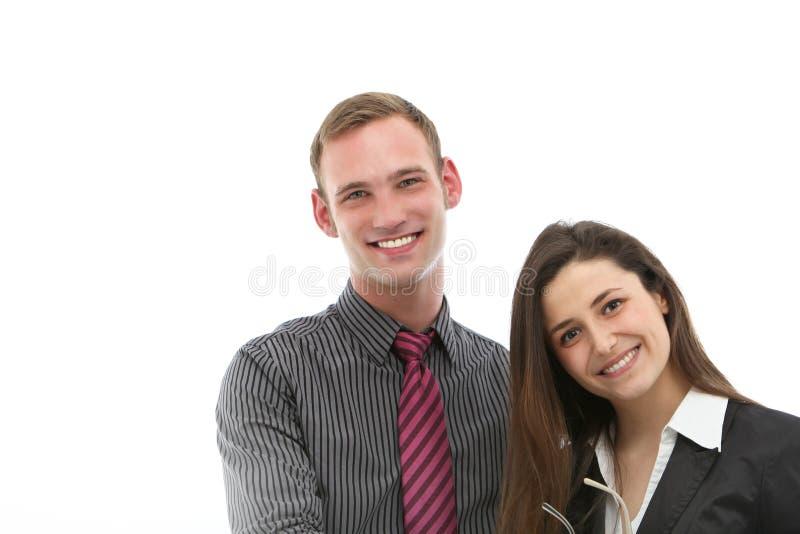 欢迎友好专业夫妇 免版税图库摄影