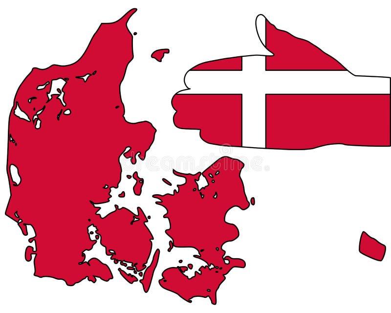 欢迎的丹麦 向量例证