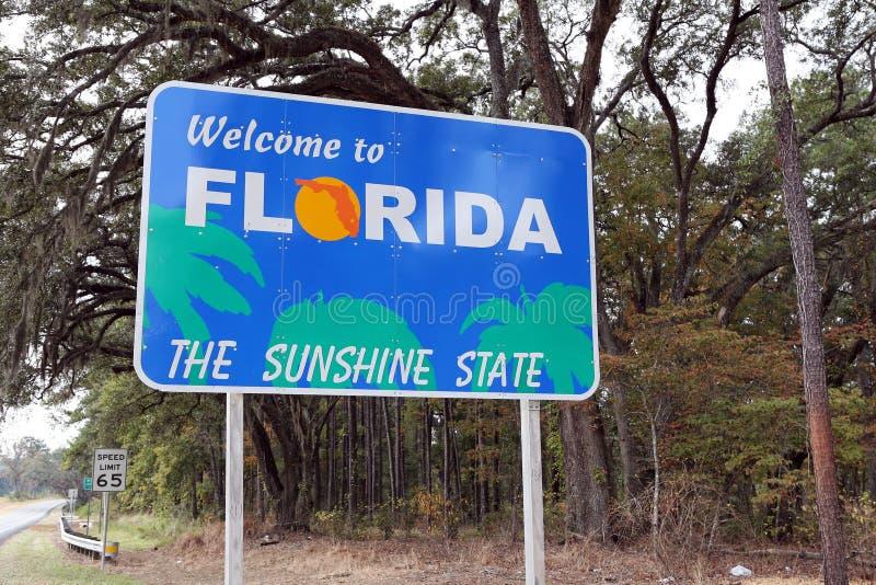 欢迎的佛罗里达 免版税库存照片