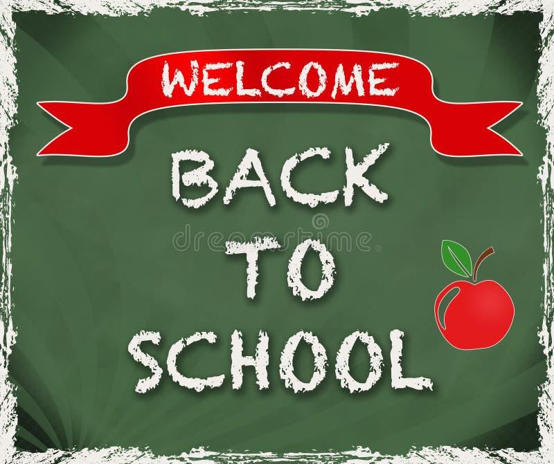 欢迎的回到学校 皇族释放例证