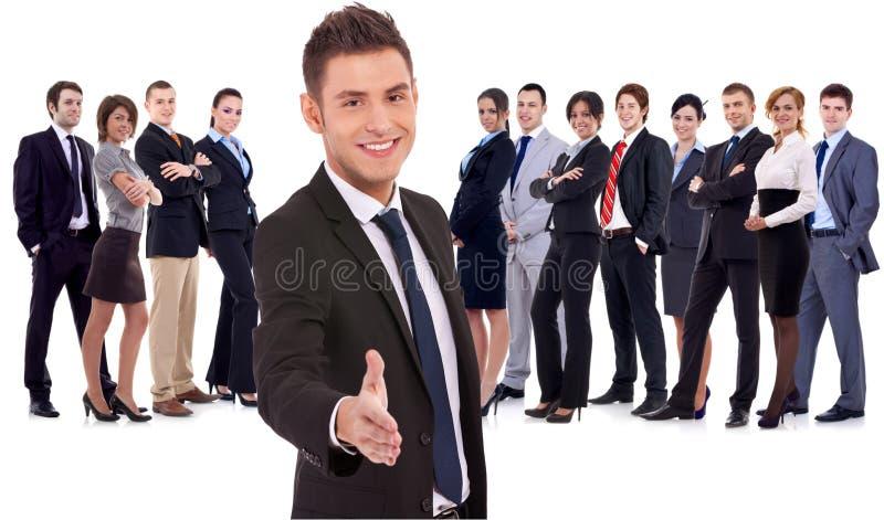 欢迎的小组 免版税库存图片