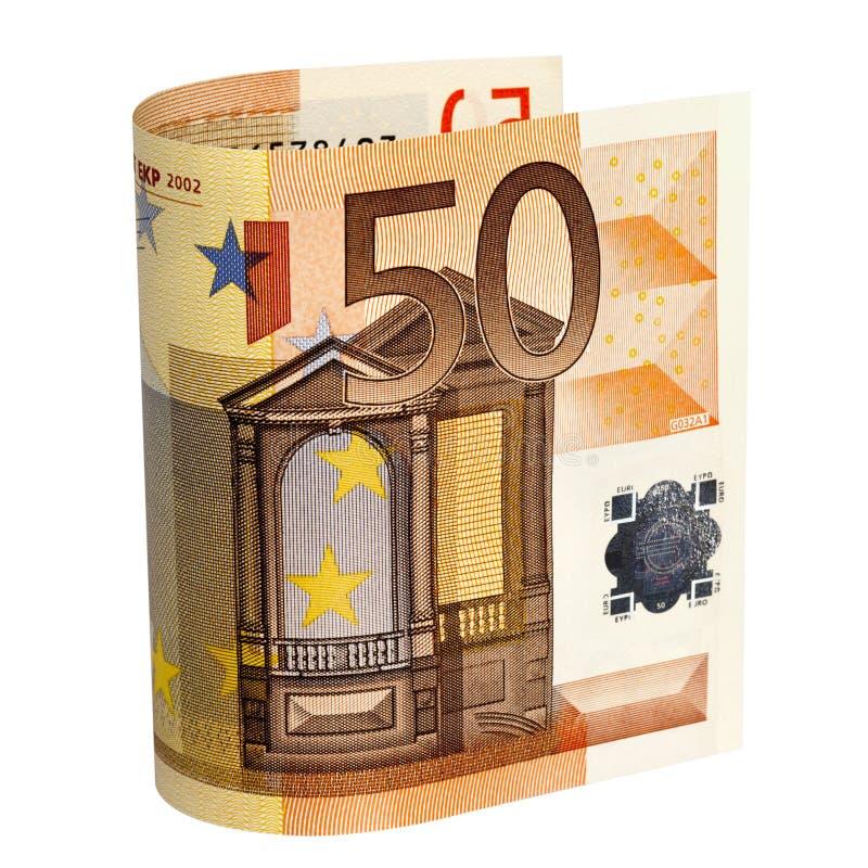 欧元五十注意路径 库存图片