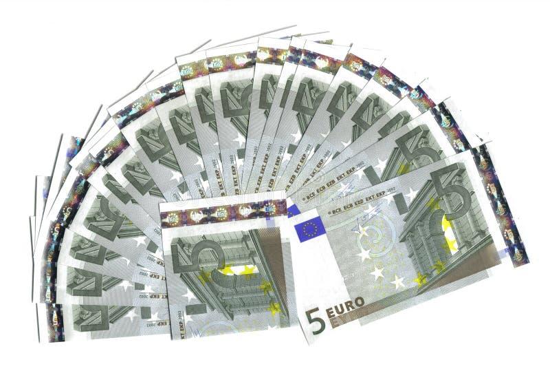 欧元五范围 免版税库存照片