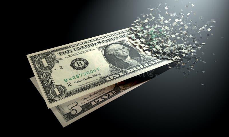 欧元在黑背景消失 免版税图库摄影