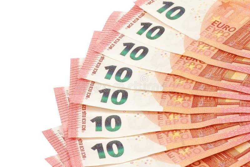 欧元注意反映 免版税库存图片