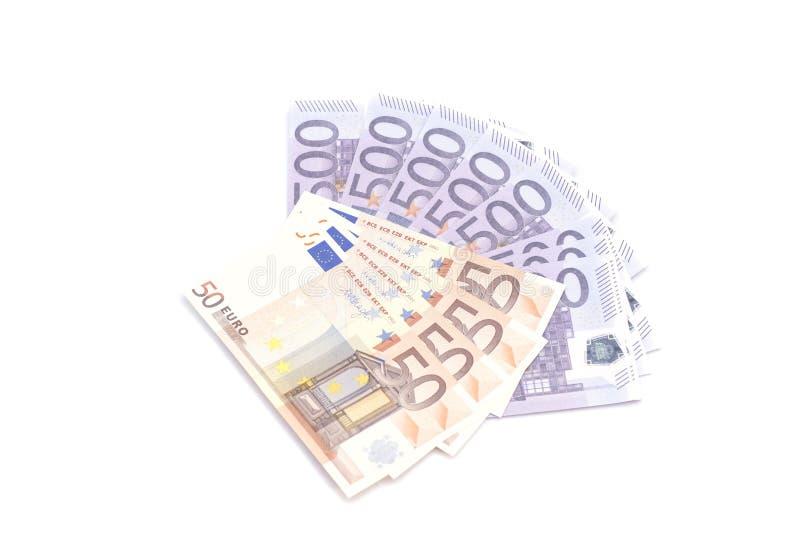 欧元注意反映 免版税图库摄影
