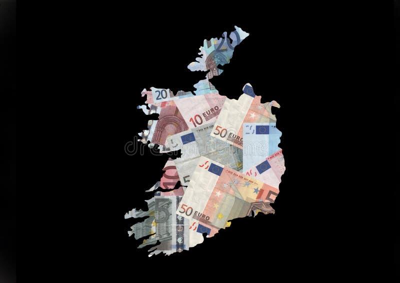 欧元爱尔兰映射 皇族释放例证
