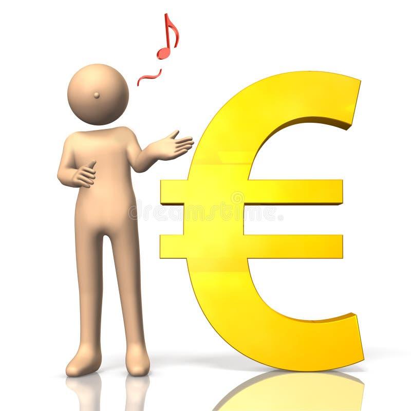 欧元的经济 皇族释放例证