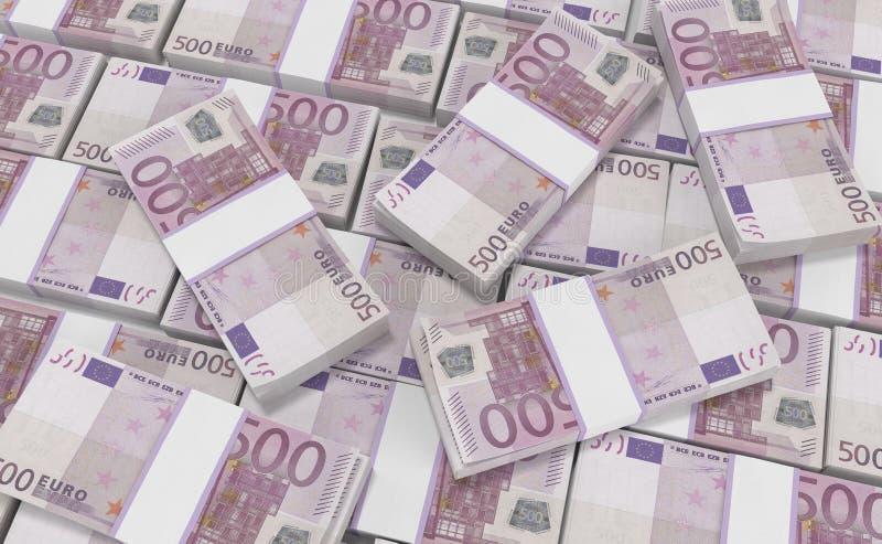 500欧元货币 欧洲现金背景 欧洲金钱钞票 库存例证
